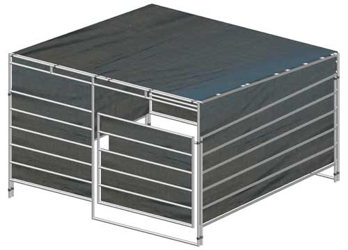 Shelter Panel W : Modular horse stalls portable red river