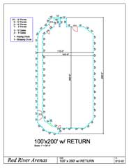 100 X 200 ROPING ARENA 12FT PANELS