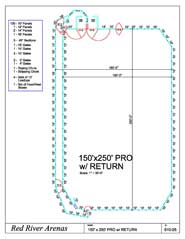 Red River Roping Arena And Riding Arena Layouts For Horse
