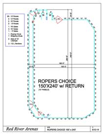 150' x 240' Ropers Choice 10FT PANELS