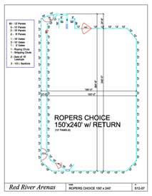 150' x 240' Ropers Choice 12FT PANELS