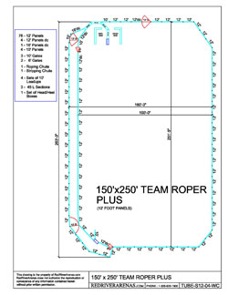 arena roping team layouts panels river arenas horse packaged roper plus tube